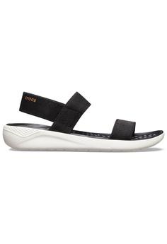 cb8b6dec40ab Crocs black Women s LiteRide™ Sandal Blk Whi B5336SH224A30BGS 1