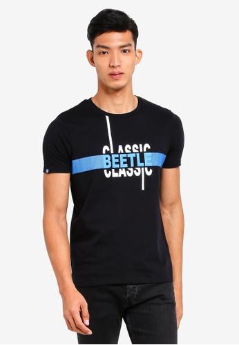 Volkswagen 黑色 文字印花T恤 EC9C0AAE871C8BGS_1