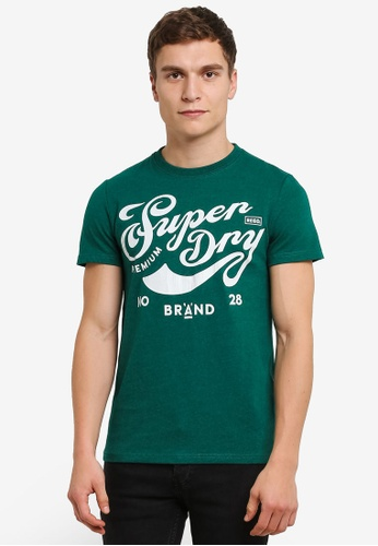 Superdry green Brand A Tee SU137AA0RY5NMY_1