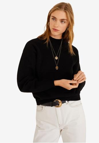 Mango black High Collar Sweater CA0A8AAFE35D43GS_1