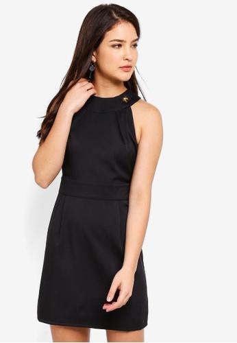 ZALORA black Cut In Sheath Dress 8854FAAB6F1CD9GS_1