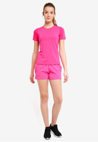 Calvin Klein pink and multi CK Logo Wb Shorts - Calvin Klein Performance 2E730AA7F3F6F0GS_1