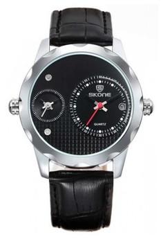 Skone Men's Leather Strap Watch 9245