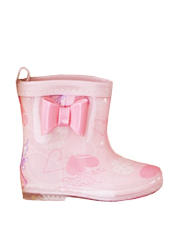 Twenty Eight Shoes 粉紅色 VANSA 時尚短筒雨靴 VSK-R004 730BCKS7B62870GS_1