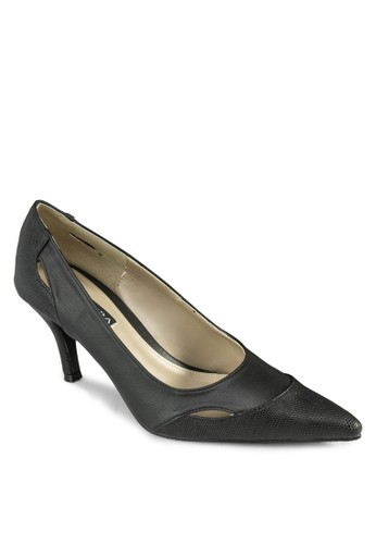 Margesprit台灣outleti 異材質拼接尖頭高跟鞋, 女鞋, 高跟