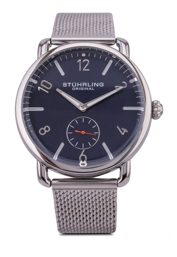 Stuhrling Original blue and silver Jenson 3939 Quartz 42mm Classic Watch 630FAAC95BAC16GS_1