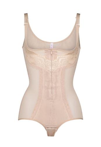 Lady Grace beige Plain Body Suit E1704US9195849GS_1