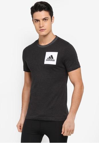 adidas 黑色 LOGO印花T恤 7E962AACFC5996GS_1