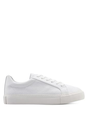 Topman 白色 動物紋運動鞋 2BA76SH38F8A1BGS_1