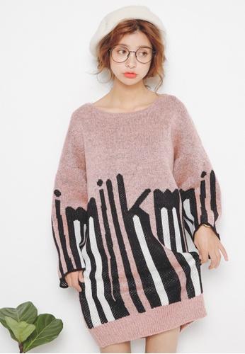 Sunnydaysweety pink F/W Comfort Pattern Easy Match Cotton Blend Dress CA1201040PI 9CFC3AA331E670GS_1