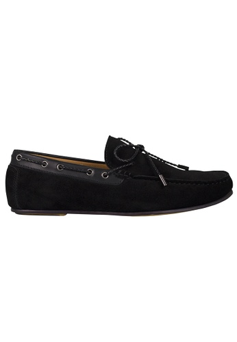 Tomaz black Tomaz C318 Suede Leather Braided Loafers (Black) A5492SH79256D8GS_1