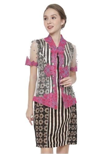 MADAME RABBIT pink and brown Set Kebaya & Dress Pearl Pink B477BAA4F49B96GS_1