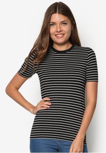 貼身條紋TEE, 服飾, zalora時尚購物網的koumi koumiT恤
