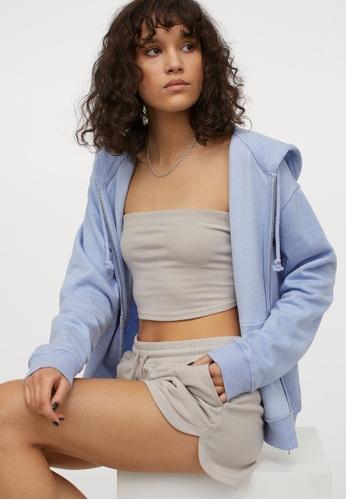 H&M brown Sweatshirt shorts 6CBA4AA254194EGS_1