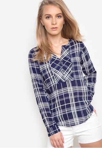 Freego blue Checkered Longsleeve Shirt FR760AA06SEBPH_1