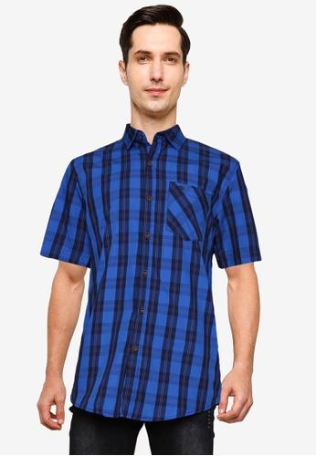 Fidelio blue Signature Casual Short Sleeve Shirt 2DBC2AAE4872C7GS_1