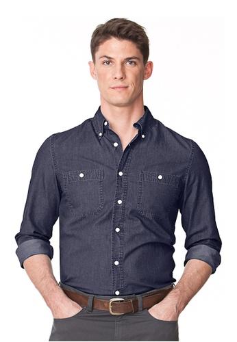Chaps blue Chaps Denim Shirt CH325AA14NLPMY_1