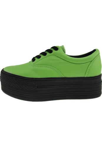Maxstar 綠色 新款韩国鞋C50-5H-TC時尚皮革布混合女綠色 US Women Size MA345SH02GTDTW_1