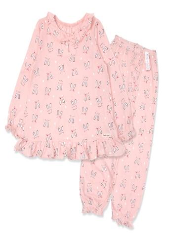 Organic mom pink Organic Cotton Heidi Rabbit Lightweight Long Sleeves Pjs 81CFBKAE278B5FGS_1