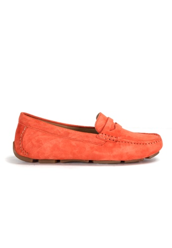 Shu Talk orange Amaztep Comfortable Penny Suede Leather Loafer 4B323SH514D97CGS_1