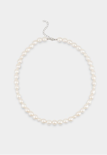 monojewelry THE OVAL-PEARLS NECKLACE 2ABA9AC23BC86DGS_1