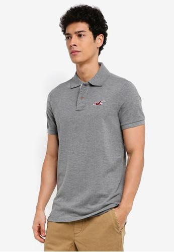 Hollister grey Exploded Icon Polo Shirt B1526AA882A7B7GS_1