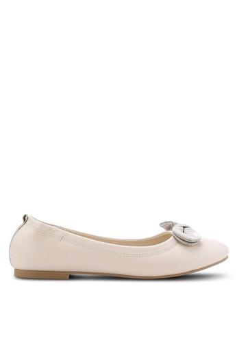ZALORA beige Bow Ballerinas C1154SHB13B9F2GS_1