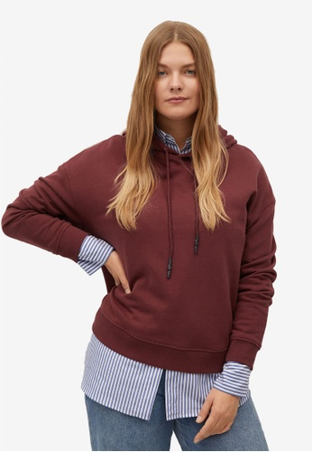 Violeta by MANGO red Plus Size Organic Cotton Sweatshirt F1258AA8839E4DGS_1