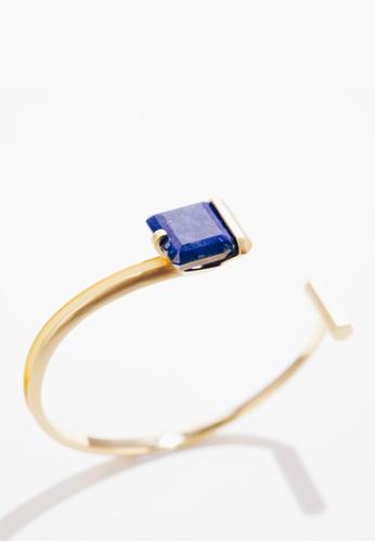 Paradeisos Jewellery blue Orbit Lapis Lazuli Cuff Bangle 4B8FEAC46F93E1GS_1