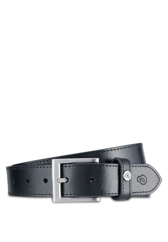 Burton Menswear London black Premium Smart Black Leather Belt BU964AC0SLF0MY_1