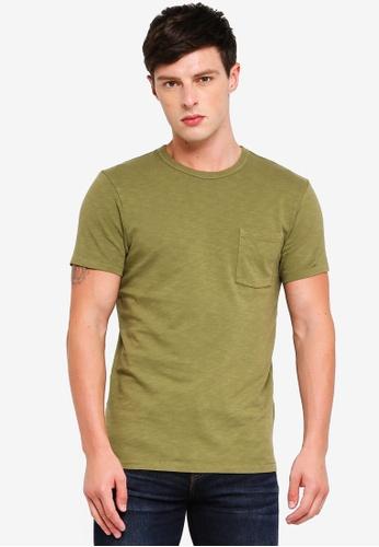 J.Crew 綠色 休閒口袋T恤 92219AAA68C221GS_1