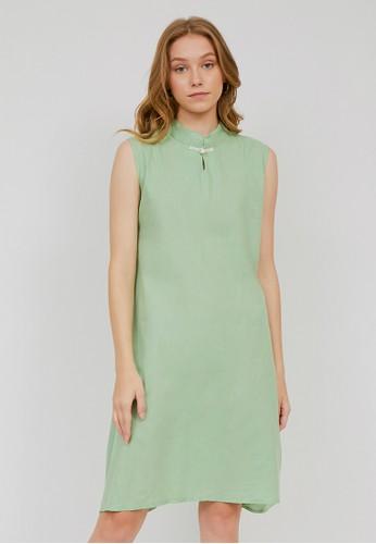 madeleine green CHLOE GREEN DRESS E28FDAAB7CF129GS_1