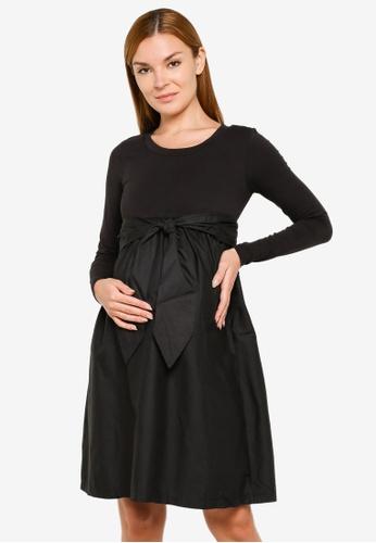 Mama.licious black MLCAROLINA L/S MIX JERSEY DRESS A. 72006AA74E0776GS_1
