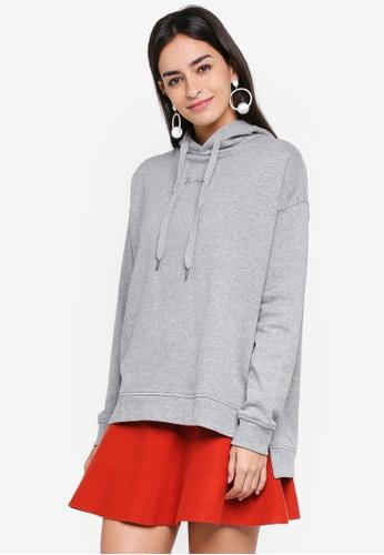 Vero Moda grey Eida Long Sleeve Hoodie C77F6AAD426AE5GS_1