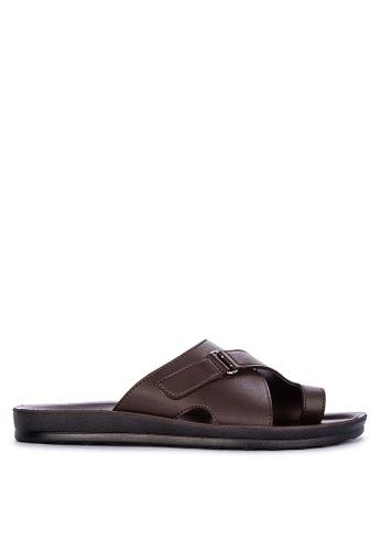 H2Ocean brown Aido Toe Band Thong Sandals 19FA3SHCEA9BFCGS_1