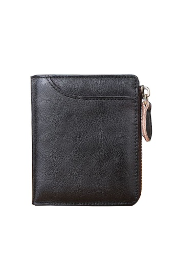 Twenty Eight Shoes black VANSA Vintage Top Layer Cowhide Wallet VAM-Wt012 156B6ACE3CC02AGS_1