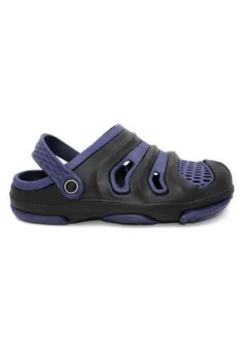 midzone black and blue YLY Slip On Men Sandals MI949SH0RW68MY_1