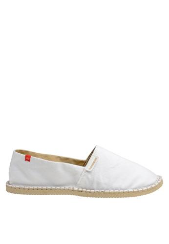 Havaianas white Origine III Slip-on Sneakers HA021SH02DCVPH_1