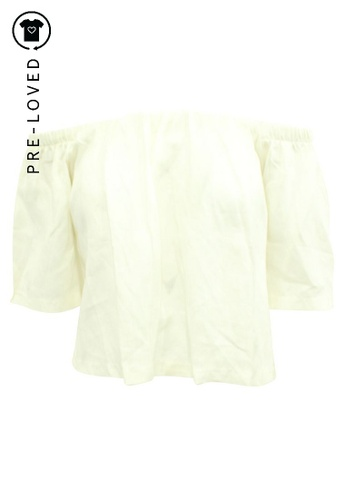 Reformation beige Pre-Loved reformation Off Shoulder White Top A84C2AA54EB702GS_1