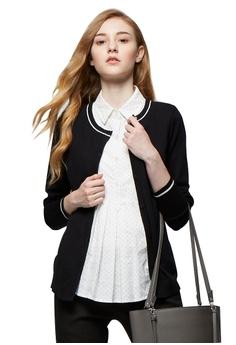 b9da97015eb09 Mamaway black 2 in 1 Maternity & Nursing Shirt with Cardigan  9F71EAADB1E420GS_1