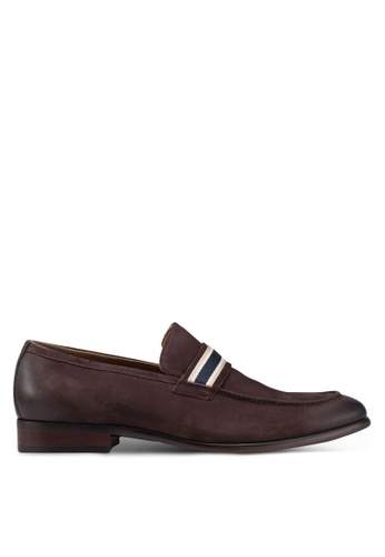ALDO brown Briaven Slip On Loafers D06F4SHA2A8A89GS_1