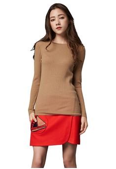 【ZALORA】 OUWEY歐薇 保暖羊毛圓領內搭衣