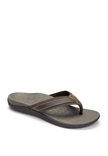 Vionic brown Mens Tide 11 Sandals 6E7E6SHAECCBB3GS_1