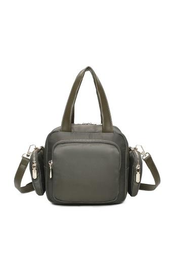 Milliot & Co. green Laurie Top Handles Bag E60E3AC083BBA0GS_1