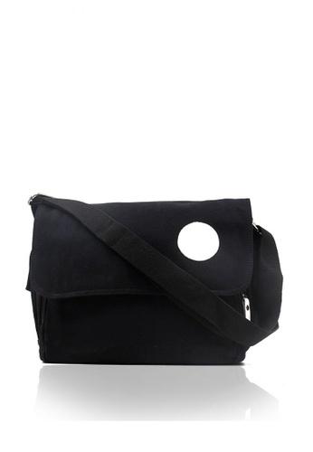 Attraxion Men's and Accessories black Rabi 1028-20 Messenger Crossbody Bag 7AE45ACF3E598AGS_1