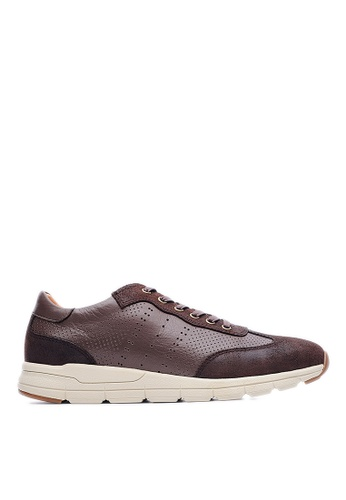 Life8 brown Top Grain Nubuck Casual Shoes-09005-Coffee LI286SH99UTSMY_1