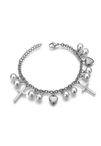 CELOVIS silver CELOVIS - Charity Cross with Pearl Bracelet in Silver B4BD2ACF6E70CAGS_1