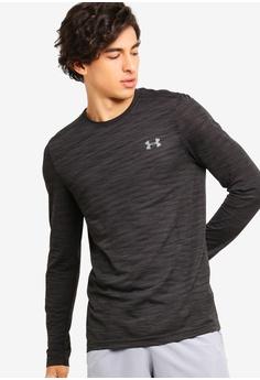 5222cb3df47 Under Armour black UA Threadborne Seamless Long Sleeve T-Shirt  922CAAAB07CDF3GS 1