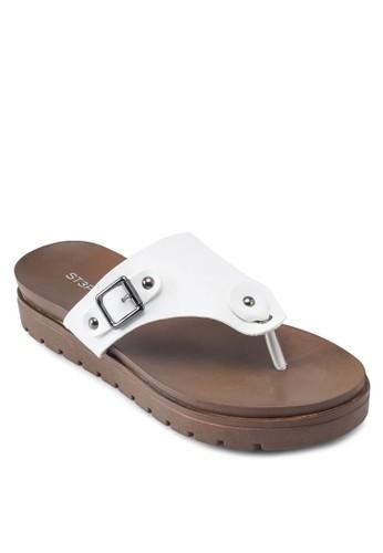 扣環esprit taiwan夾腳厚底涼鞋, 女鞋, 鞋