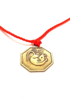 Feng Shui Brass Rat Pendant Animal Sign Necklace